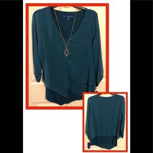 Apt. 9 blouse with necklace